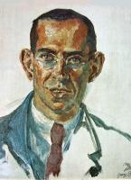 Georg Britting, Gemälde von Oskar Birkenbach